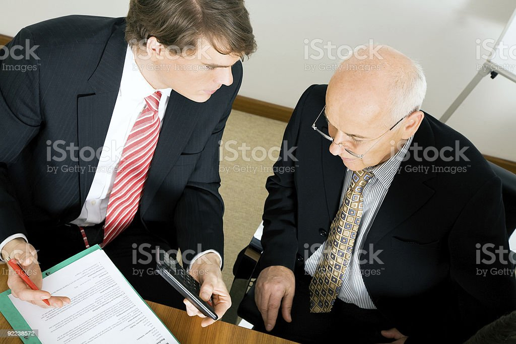 Discussing a proposal royalty-free stock photo
