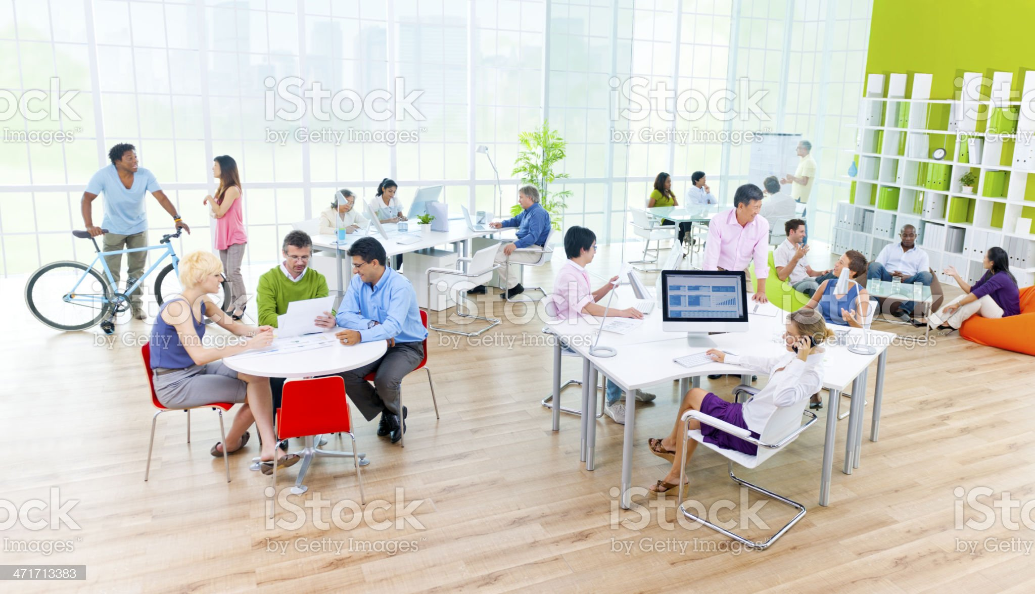 Discussing at the Office royalty-free stock photo