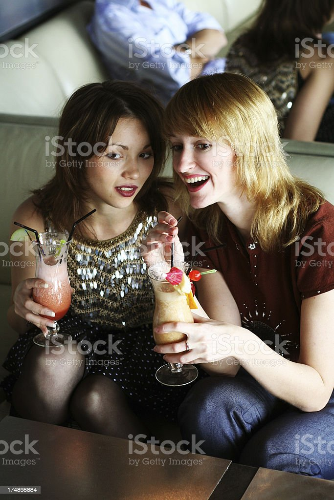 discussing boys in club royalty-free stock photo