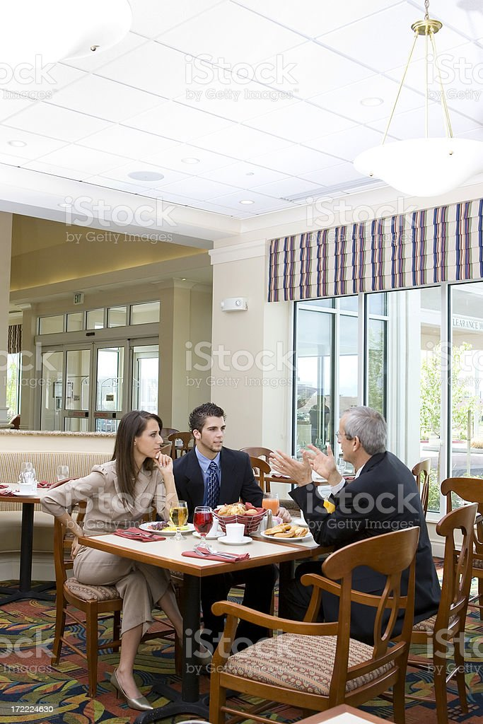 Discussing Business Over Lunch royalty-free stock photo