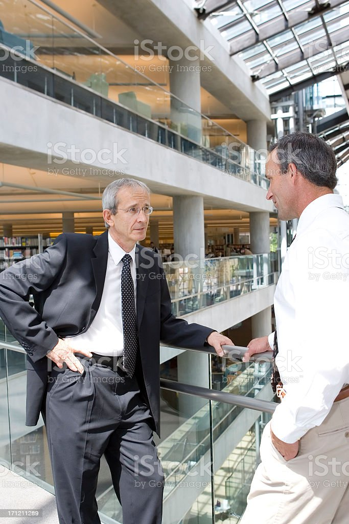 Discussing Business stock photo