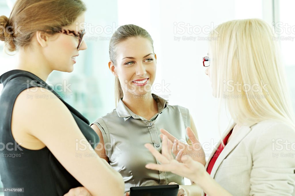 Discussing business royalty-free stock photo
