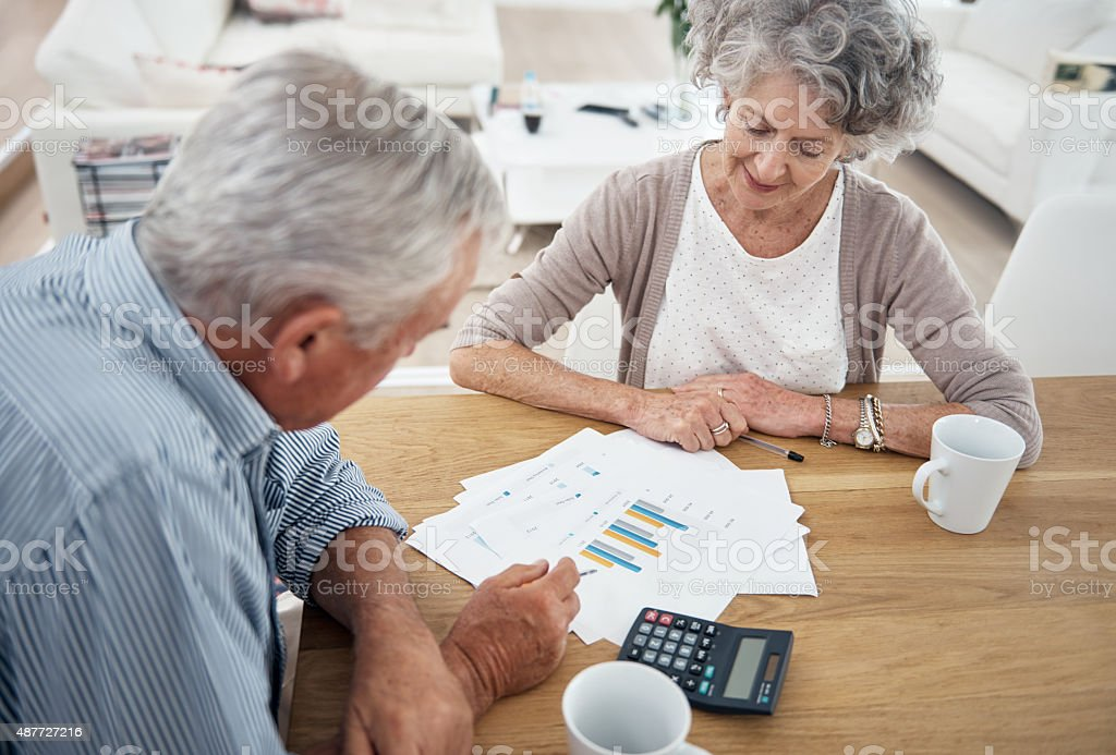 Discussing important matters… stock photo