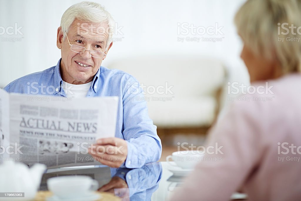 Discussing last news royalty-free stock photo