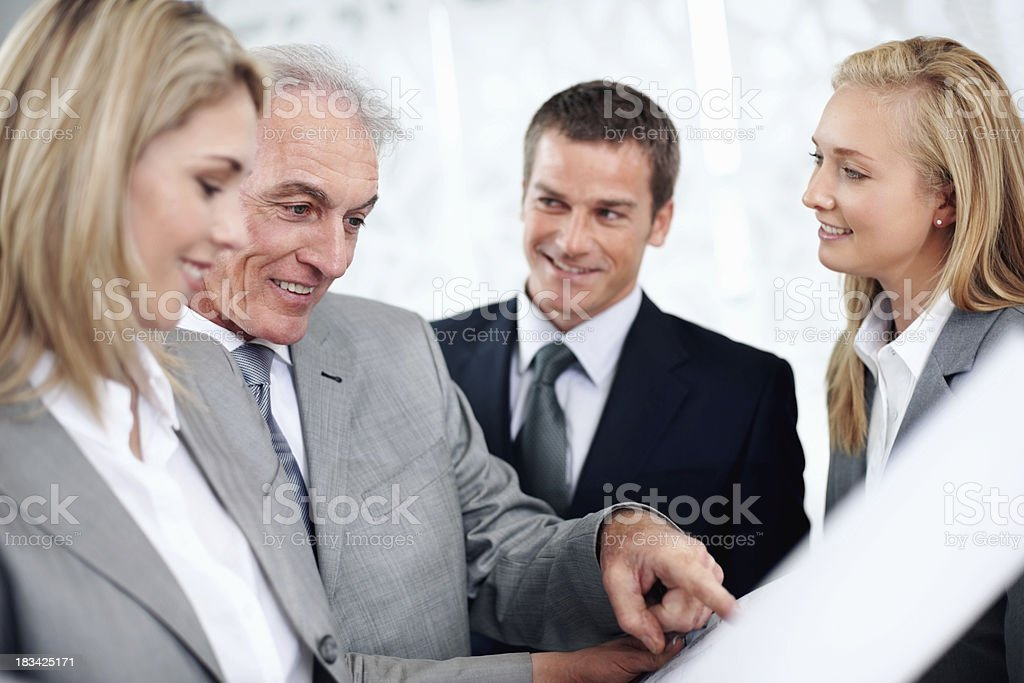 Discussing new project royalty-free stock photo