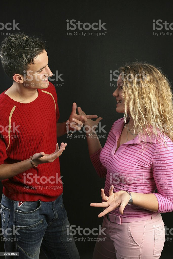 Discussing stock photo