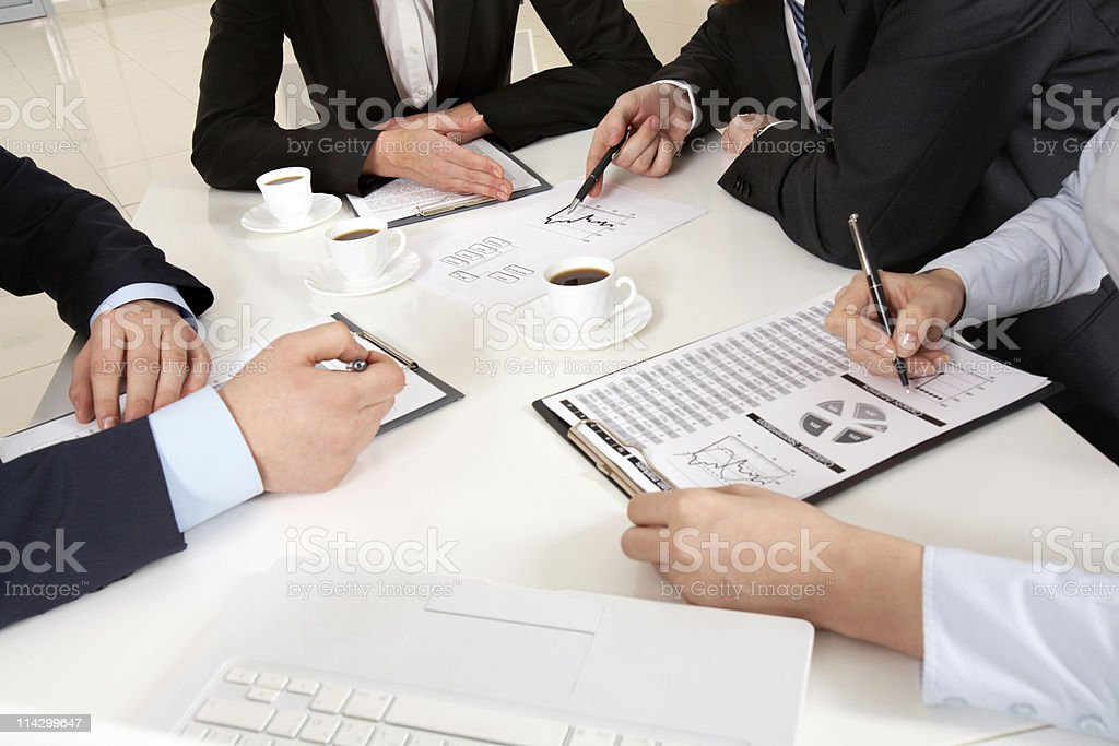 Discussing plan stock photo