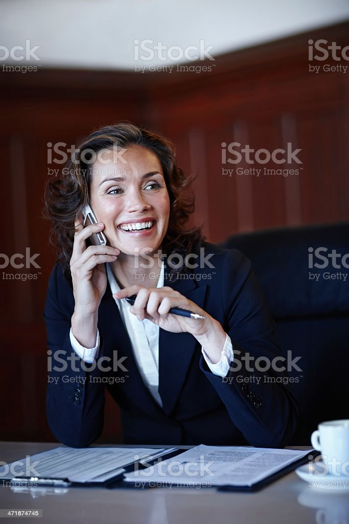 Discussing the case with her associate stock photo