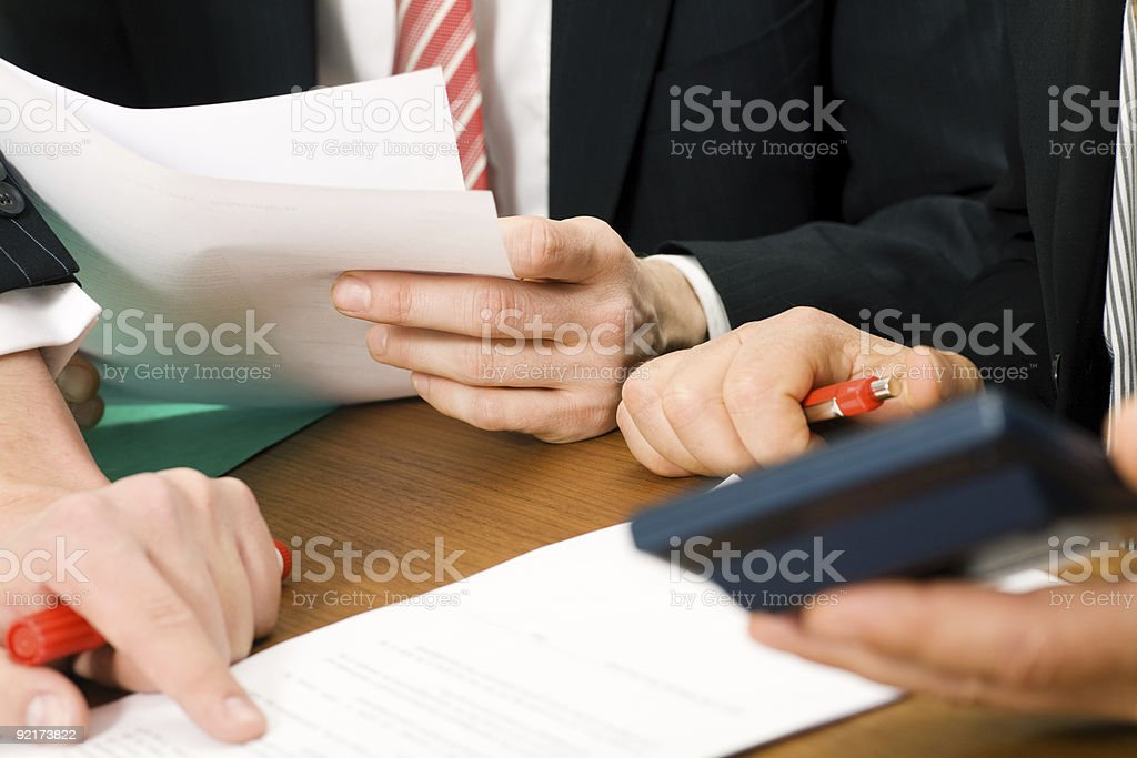 Discussing the numbers royalty-free stock photo