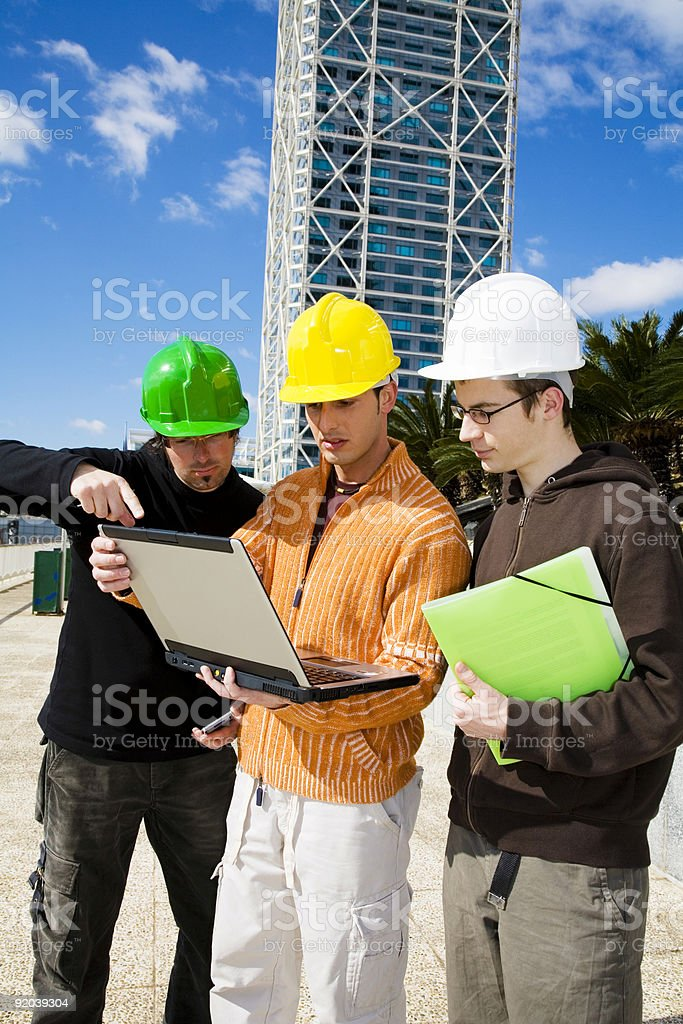 Discussing the project royalty-free stock photo