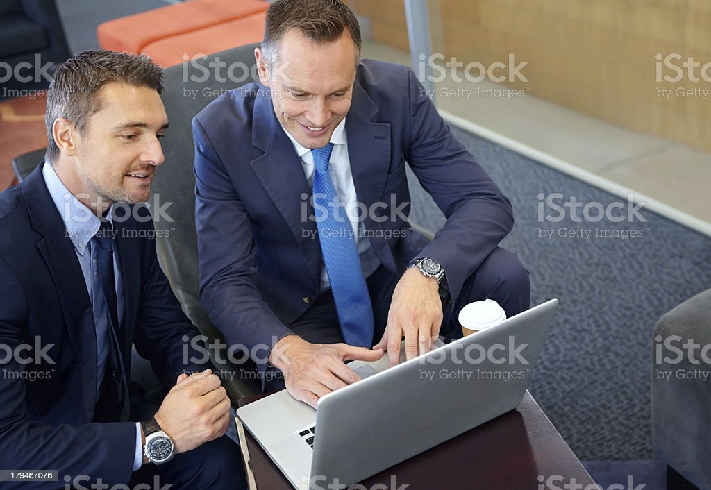 Discussing viable investment options royalty-free stock photo