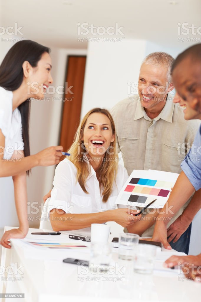 Discussion about color selection royalty-free stock photo