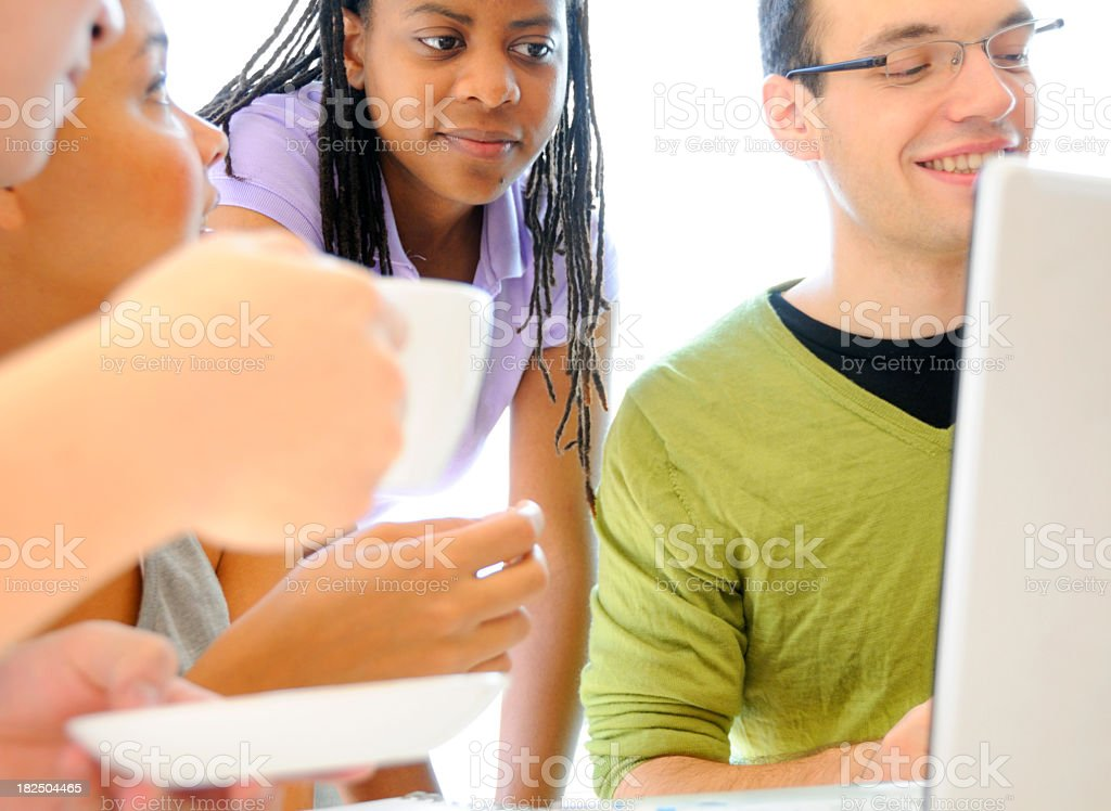 Discussion and Coffee royalty-free stock photo