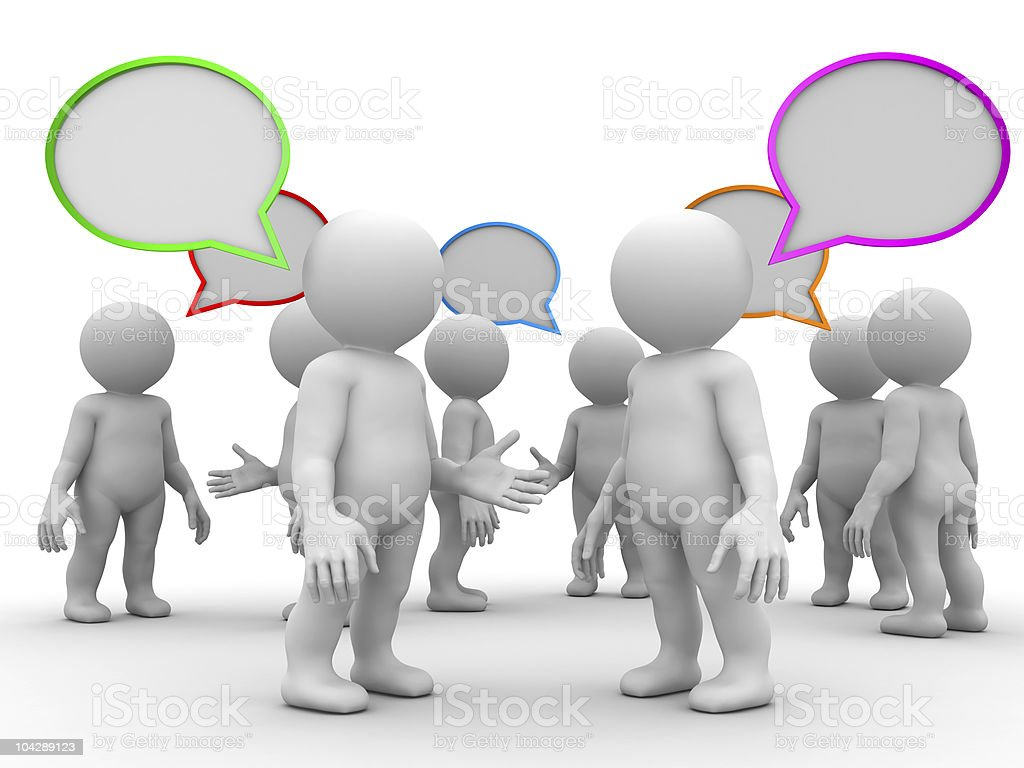 discussion concept stock photo