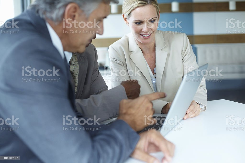 Discussion of project royalty-free stock photo