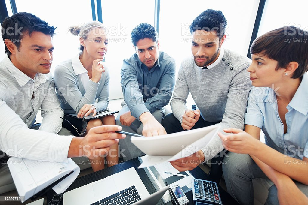 Discussion on a project stock photo