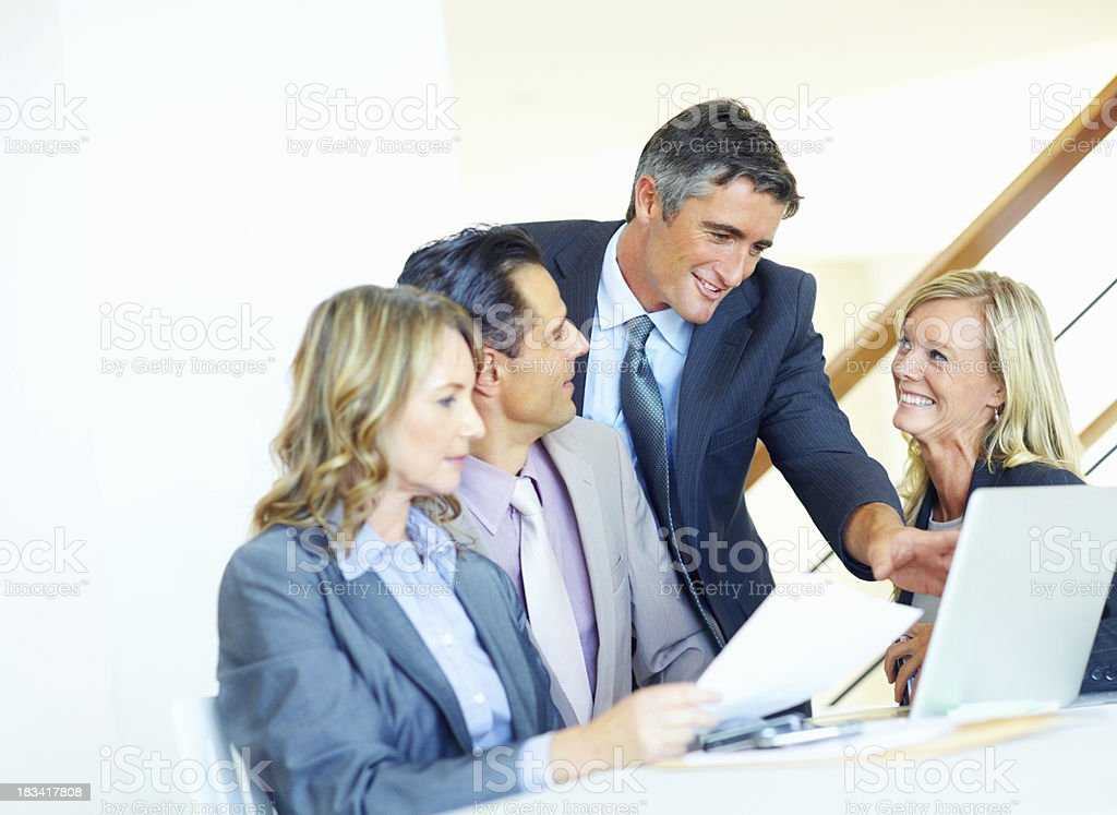 Discussion on project royalty-free stock photo