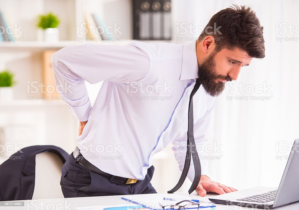 Disease in the office stock photo