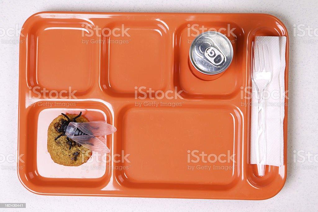 diseased food - orange lunch tray diet series stock photo