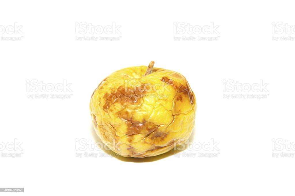 diseased yellow apple stock photo
