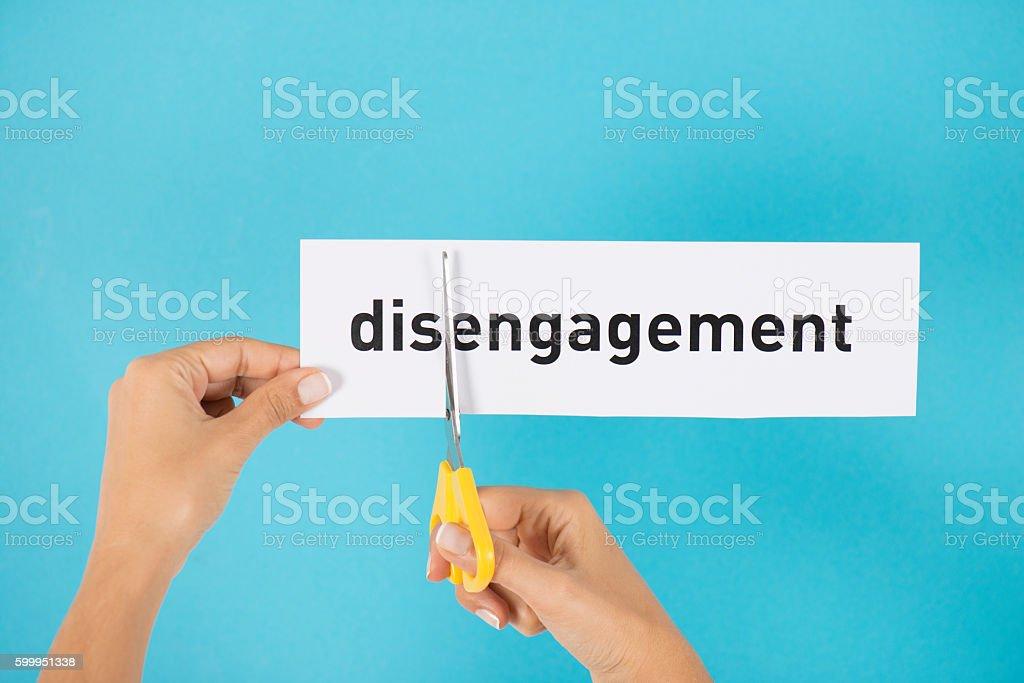 Disengagement To Engagement stock photo