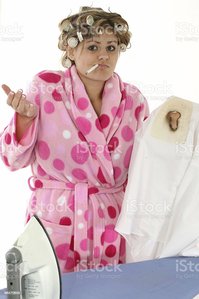 Disgruntled Housewife royalty-free stock photo