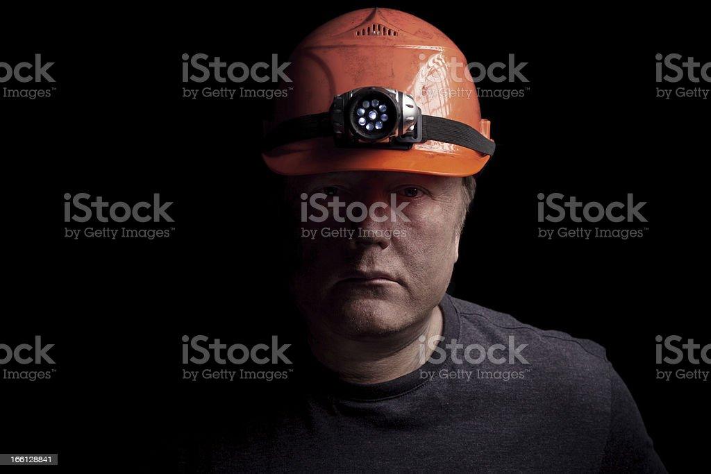 Disgruntled Mine Worker stock photo