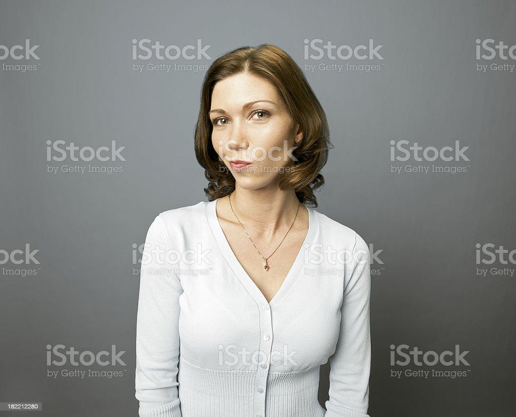 Disgruntled Woman royalty-free stock photo
