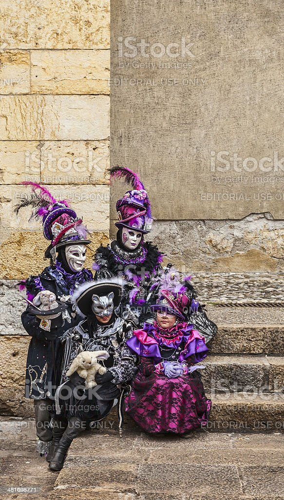 Disguised Family stock photo