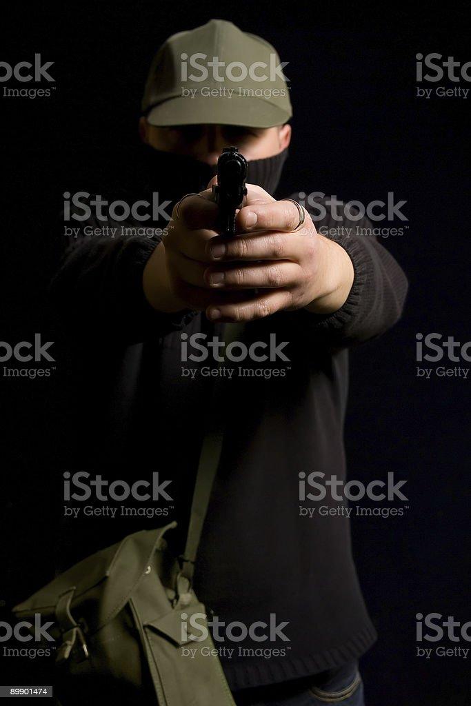 Disguised Paramilitary Gunman royalty-free stock photo