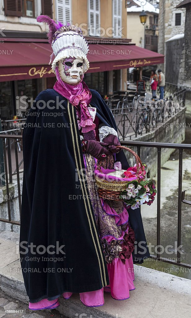 Disguised Person in Annecy royalty-free stock photo