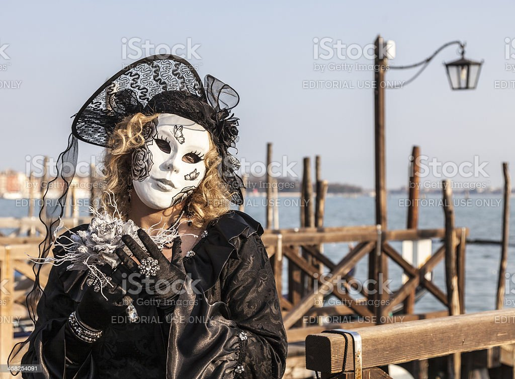 Disguised Woman royalty-free stock photo