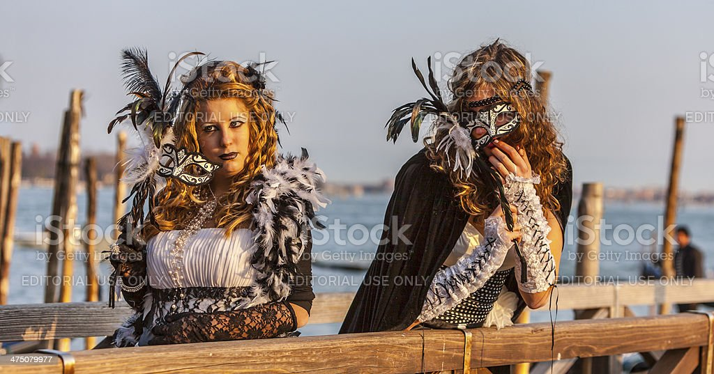 Disguised Women royalty-free stock photo