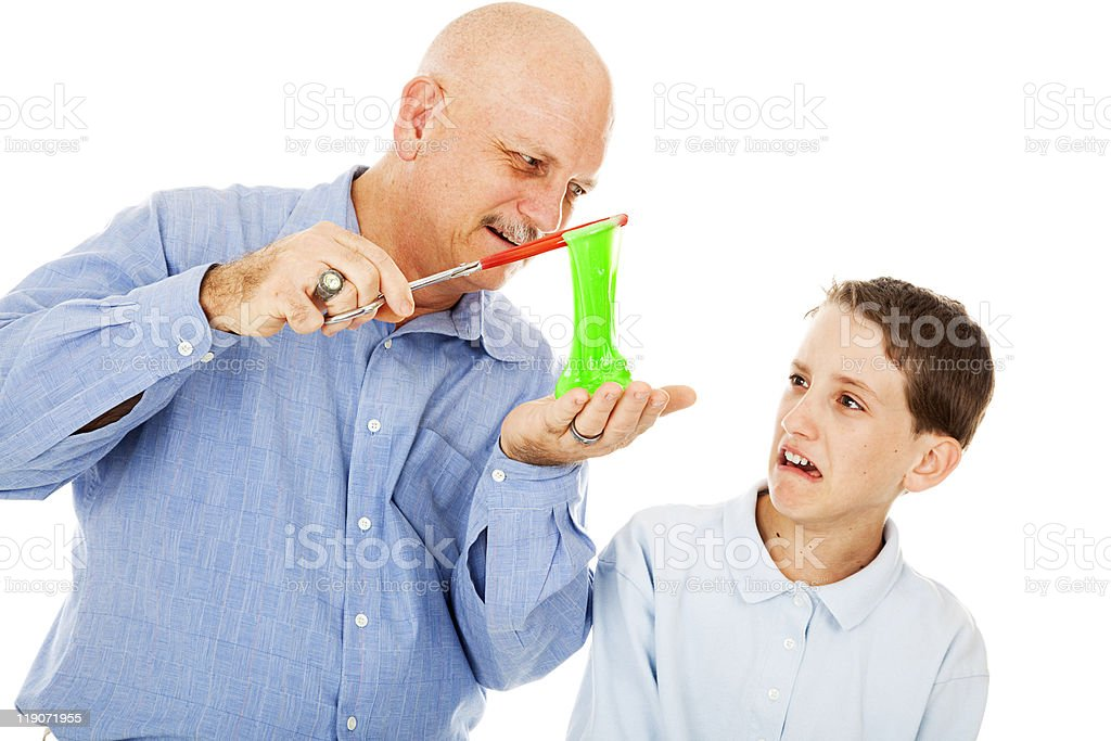 Disgusted by Science stock photo