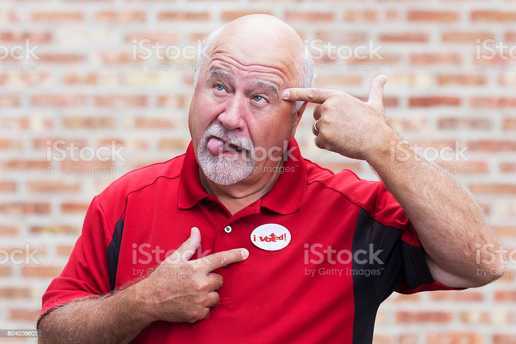 Disgusted Voter stock photo