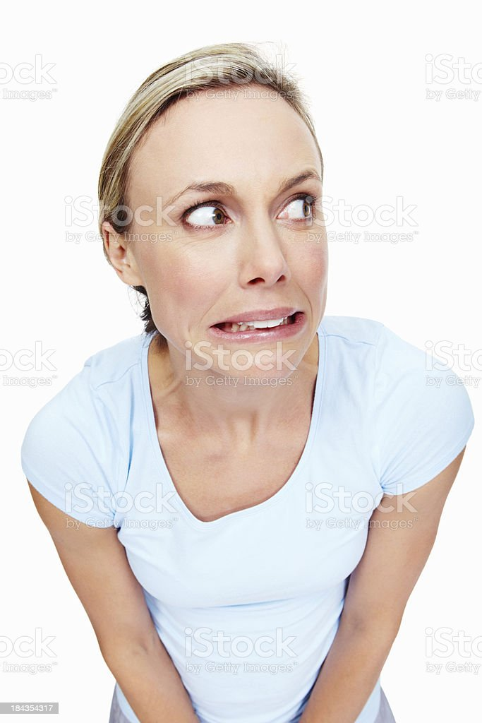 Disgusted Woman royalty-free stock photo