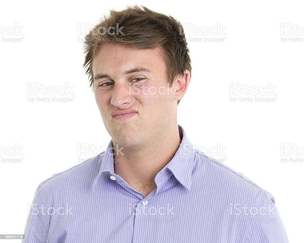 Disgusted Young Man royalty-free stock photo