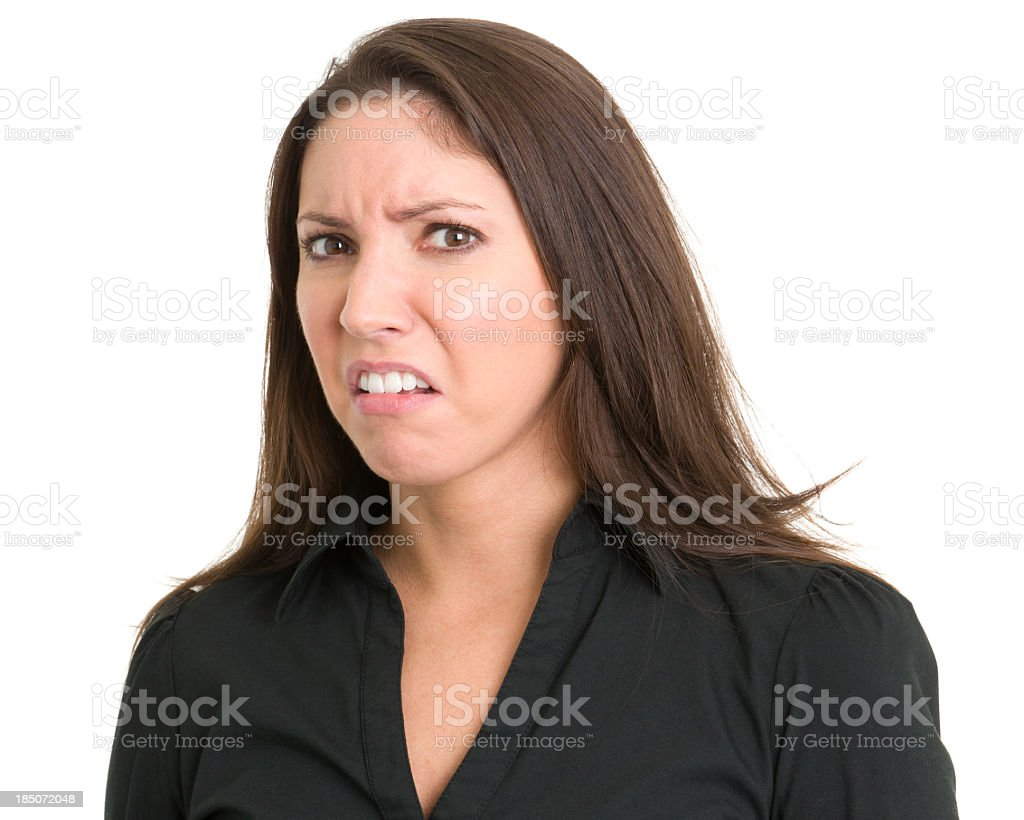 Disgusted Young Woman royalty-free stock photo