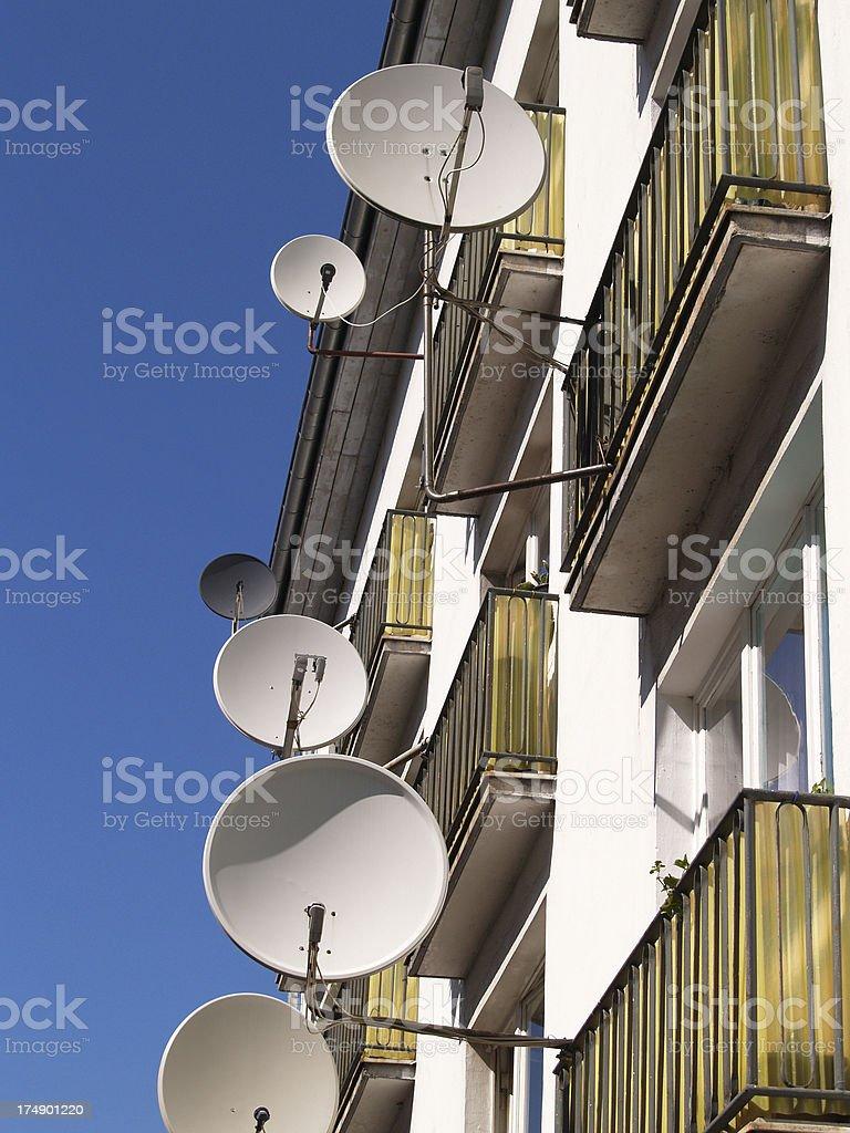 TV Dish Antennas 1 royalty-free stock photo