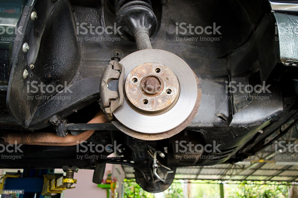 Dish brake stock photo