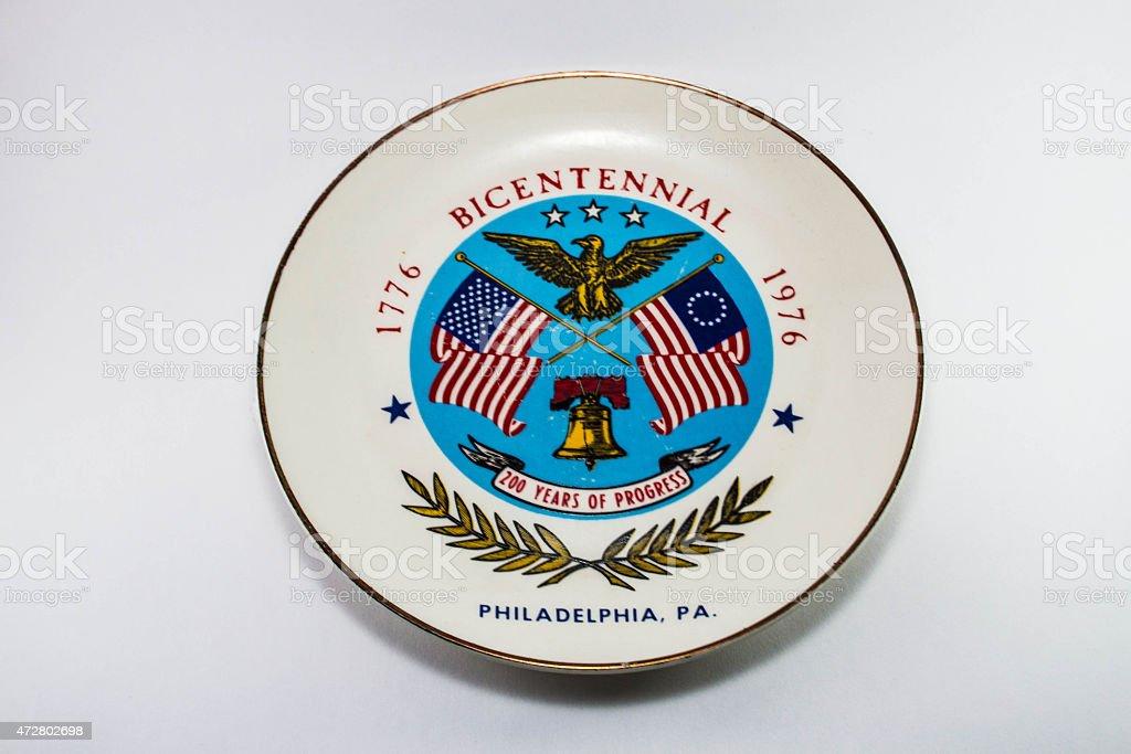 Dish of Bicentennial stock photo