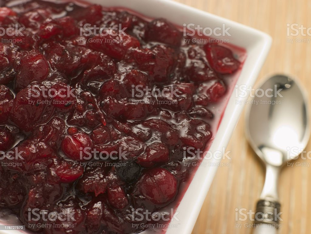 Dish of Cranberry Sauce royalty-free stock photo
