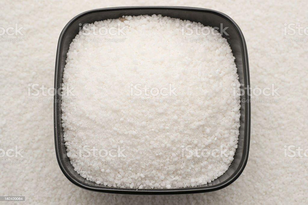 dish of dry tapioca stock photo