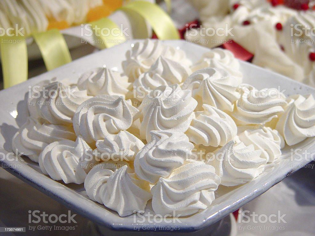 Dish of Meringue Cake stock photo