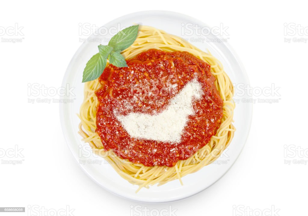 Dish of pasta with parmesan cheese shaped as United Arab Emirates.(series) stock photo