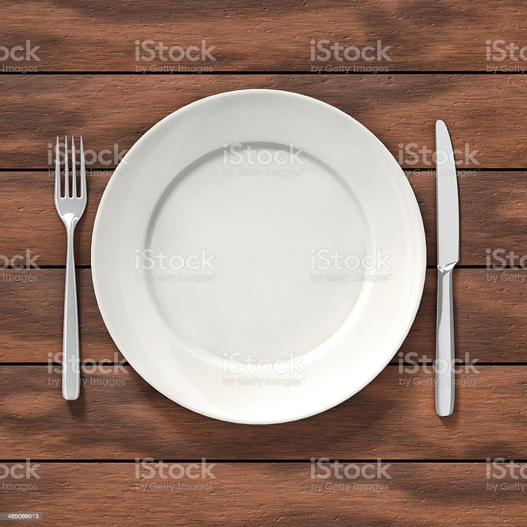 Dish on table stock photo