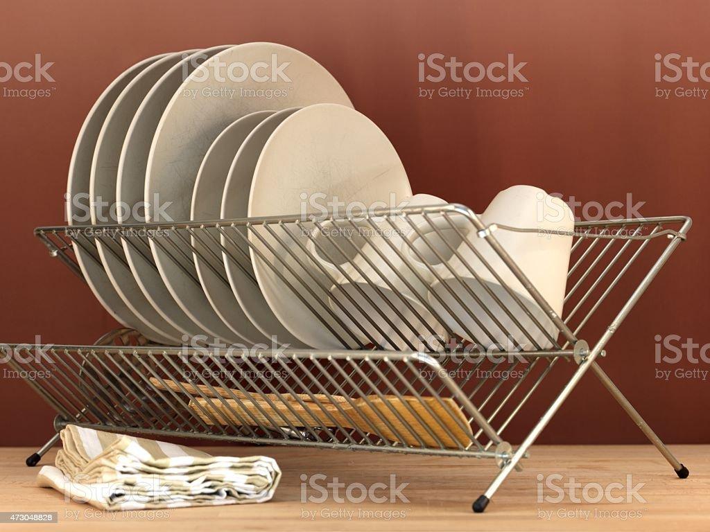 Dish Rack stock photo