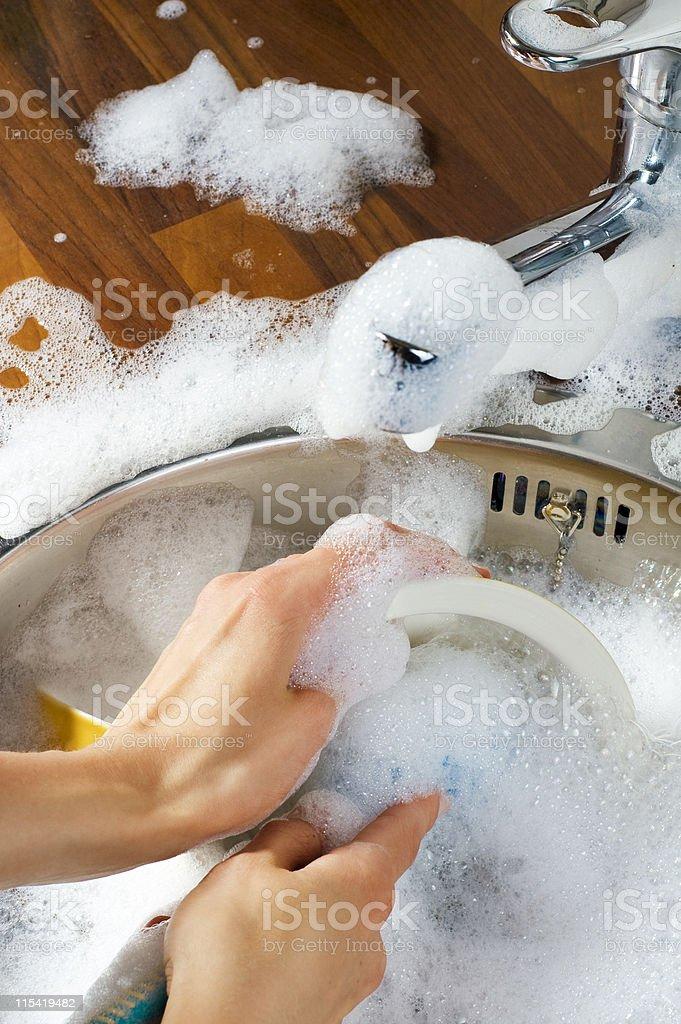 dish washing royalty-free stock photo