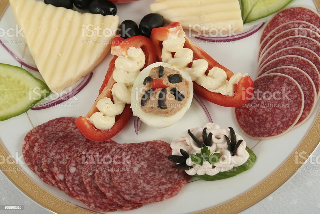Dish with Appetizers royalty-free stock photo