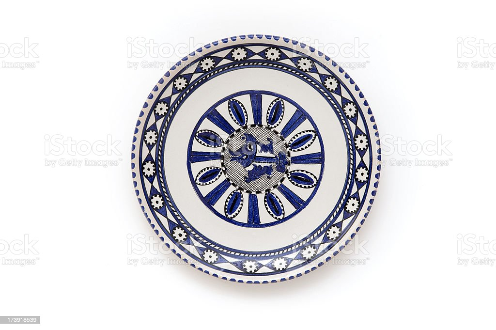 Dish with fish royalty-free stock photo